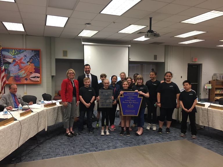 Sabold Students Honored at School Board Meeting