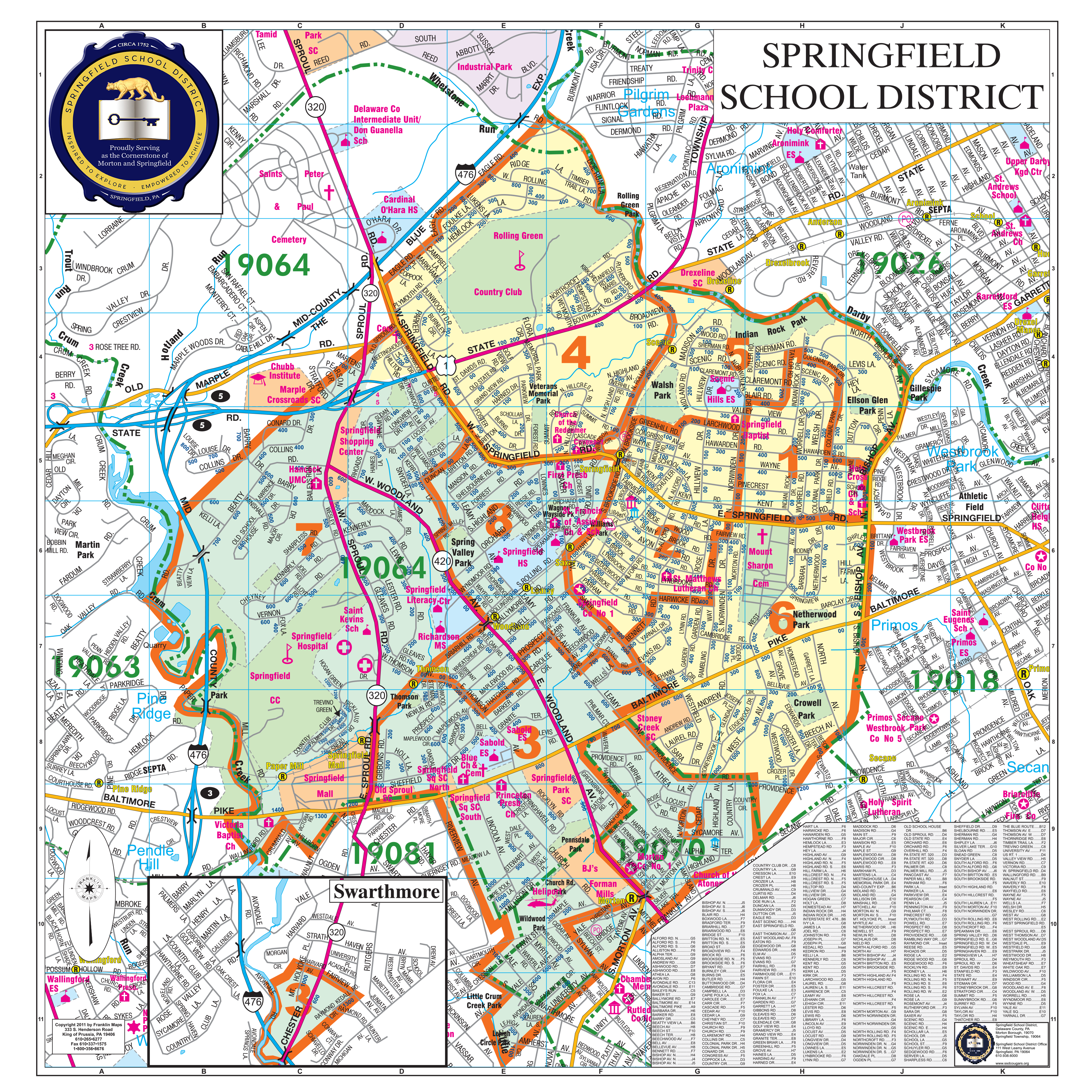 Springfield School District Boundaries Map