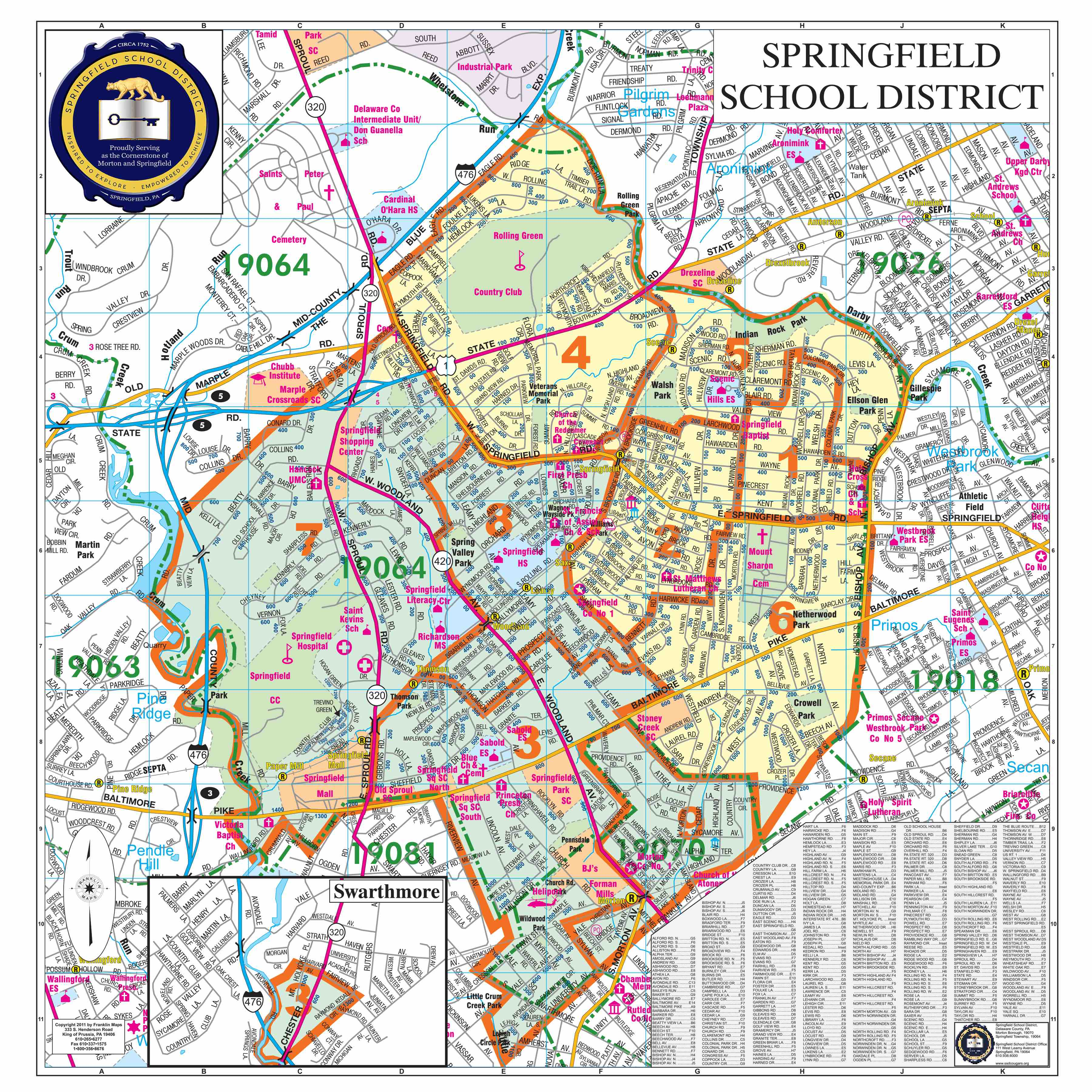 Springfield Usa Map.School Board Regions Map Springfield School District